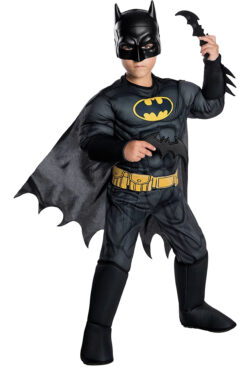 Rubie's Boys DC Comics Deluxe Batman Costume, Small, Multicolor